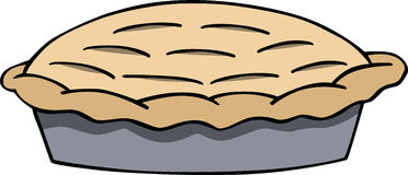 Cartoon apple pie Stock Images