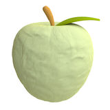 Cartoon apple from plasticine or clay Stock Image