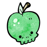Cartoon apple skull Royalty Free Stock Image