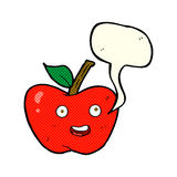 cartoon apple with speech bubble Royalty Free Stock Photography