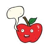 cartoon apple with speech bubble Royalty Free Stock Photo