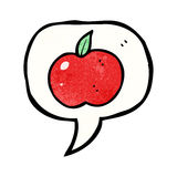 cartoon apple symbol Royalty Free Stock Image