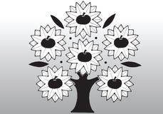 Cartoon apple tree Stock Image