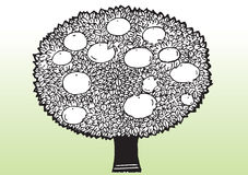 Cartoon apple tree Stock Images