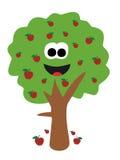Cartoon apple tree Royalty Free Stock Image