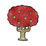 Cartoon apple tree Stock Image