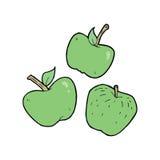 cartoon apples Royalty Free Stock Photo