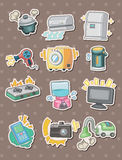 Cartoon Appliance stickers Royalty Free Stock Photography