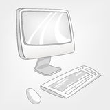 Cartoon Appliences Computer Royalty Free Stock Images