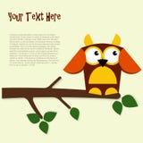 Cartoon applique birds. Cartoon applique Filin with place for text Royalty Free Stock Image
