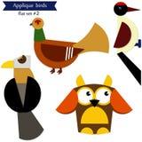 Cartoon applique birds. Stock Image