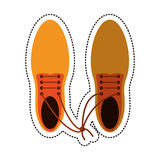 Cartoon april fool shoelaces tied image. Cartoon april fool shoelaces tied  image  illustration eps 10 Royalty Free Stock Photos