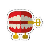 Cartoon april fools day chattering teeth. Illustration eps 10 Royalty Free Stock Photos