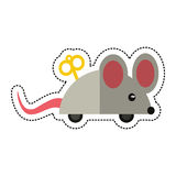 Cartoon april fools day mouse surprise. Illustration eps 10 Stock Photos