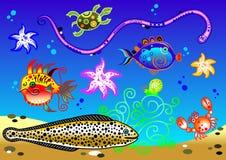 Cartoon aquarium Royalty Free Stock Image