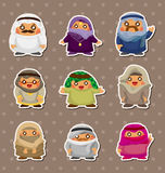 Cartoon Arabian people stickers Royalty Free Stock Photos