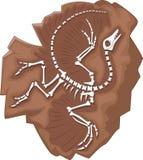 Cartoon Archeopteryx fossil Royalty Free Stock Image