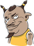 Cartoon Aries Man. Character representing the zodiac sign of Aries Stock Images