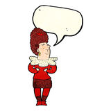 Cartoon aristocratic woman with speech bubble Royalty Free Stock Image
