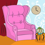 Cartoon armchair Stock Images