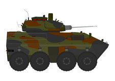 Cartoon armored vehicle Stock Photos