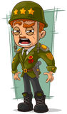 Cartoon army general in green helmet. A vector illustration of cartoon army general in green helmet Royalty Free Stock Photos