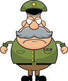 Cartoon Army General Grumpy royalty free stock photography
