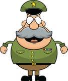 Cartoon Army General Happy stock photos