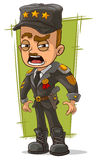 Cartoon army general in uniform Stock Image