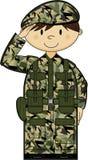 Cartoon Army Soldier Royalty Free Stock Photos