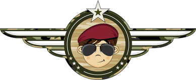 Cartoon Army Soldier Royalty Free Stock Images
