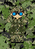 Cartoon Army Soldier Stock Image
