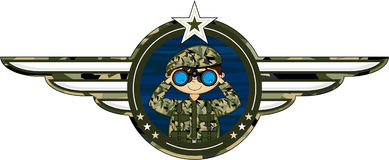 Cartoon Army Soldier Royalty Free Stock Photography