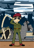 Cartoon Army Soldier Stock Photography