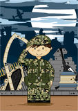 Cartoon Army Soldier Stock Photos