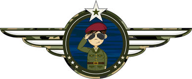 Cartoon Army Soldier Royalty Free Stock Image