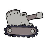 cartoon army tank Stock Photography