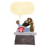 Cartoon arrogant boss man with speech bubble Stock Image