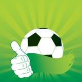 Cartoon art vector hand. Football card. Sun stripes Stock Photography