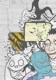 Cartoon artistic cover Stock Photography