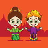 Cartoon Asean Indonesia Stock Photos