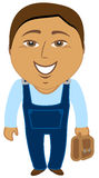 Cartoon asian worker Stock Photography