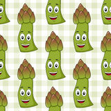 Cartoon Asparagus Seamless Pattern Stock Image