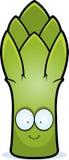 Cartoon Asparagus Smiling vector illustration