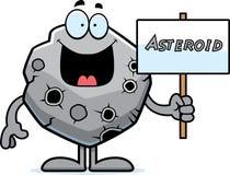 Cartoon Asteroid Sign Stock Photo