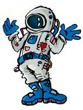 Cartoon astronaout in a space suit Royalty Free Stock Photo