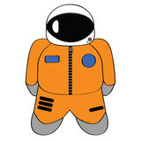 Cartoon astronaut Royalty Free Stock Photography