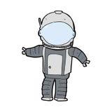 cartoon astronaut Royalty Free Stock Image
