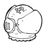 cartoon astronaut helmet Royalty Free Stock Images
