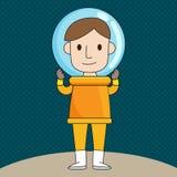 Cartoon Astronaut illustration Stock Photos